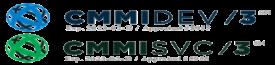 CMMI SVC/DEV Accreditation Logos - Expiration 2023-02-13